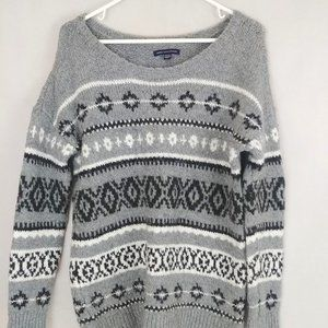 American Eagle Fair Isle Oversized Sweater Medium